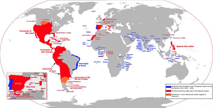 Испанский язык в Подольске, испанская империя